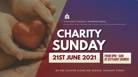 CHARITY SUNDAY church flyer Pantalla Digital (16:9) template