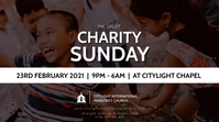 CHARITY SUNDAY CHURCH flyer Цифровой дисплей (16 : 9) template