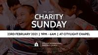 CHARITY SUNDAY CHURCH flyer Цифровой дисплей (16 : 9) template