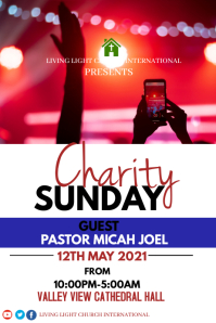 Charity Sunday Póster template