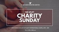 charity sunday flyer งานแสดงผลงานแบบดิจิทัล (16:9) template