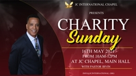Charity Sunday poster Digitalanzeige (16:9) template