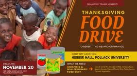 Charity Thanksgiving Food Drive Digital Display Template