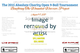 9-Ball Charity Tournament Flyer