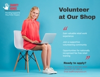 Charity Volunteering Opportunity Landscape Poster