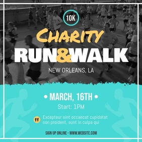 Charity Walk-a-thon Fundraising Drive Square Video