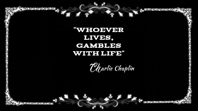 Charlie Chaplin Silent Movie Card Digitale Vertoning (16:9) template