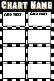 chart - black & white, simple & clean