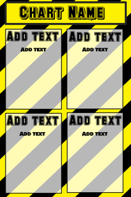 chart with warning stripes