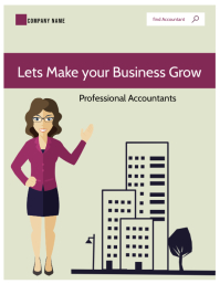 chartered accountants flyer template