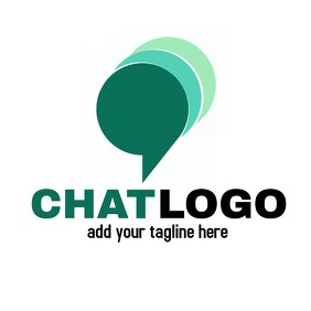 chat icon logo green color