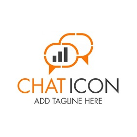chat icon logo template