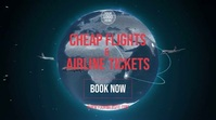 Cheap Flights Digital Display (16:9) template