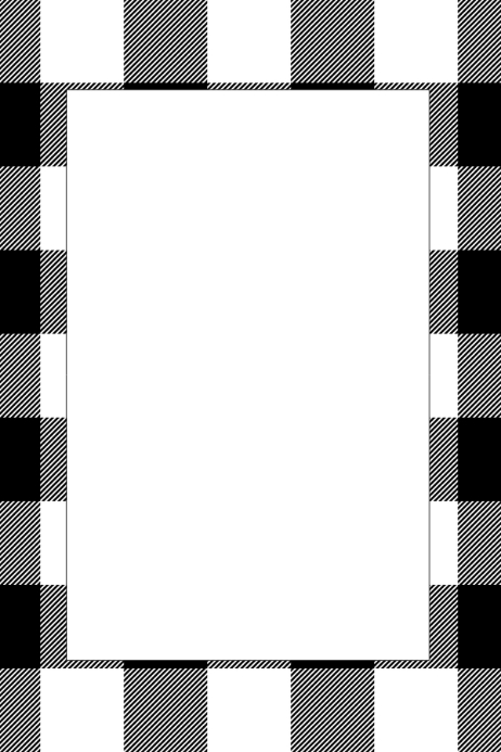 Checkered Party Prop Frame
