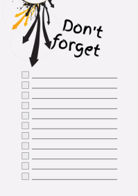 Checklist_don't forget list