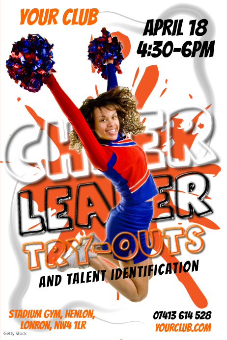 cheer leader poster template