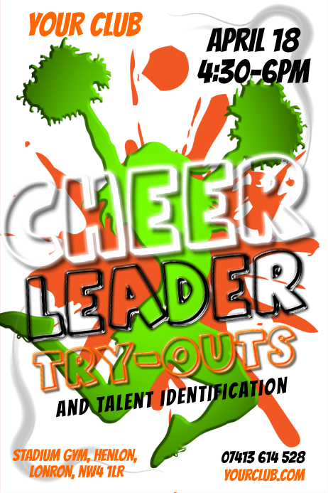 Cheer Leader Try-outs Poster