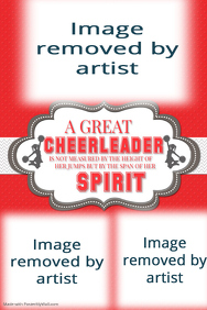 Cheerleader, Cheerleading Coach, Poster, Gift Idea