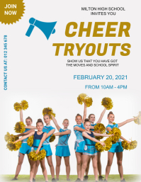 Cheerleader,event,sports,announcement Flyer (US-Letter) template