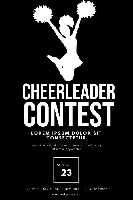 cheerleader flyer template postermywall