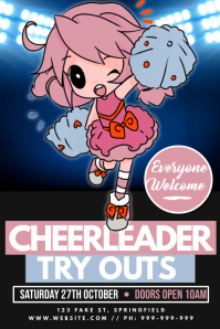 Cheerleader Try Outs Poster