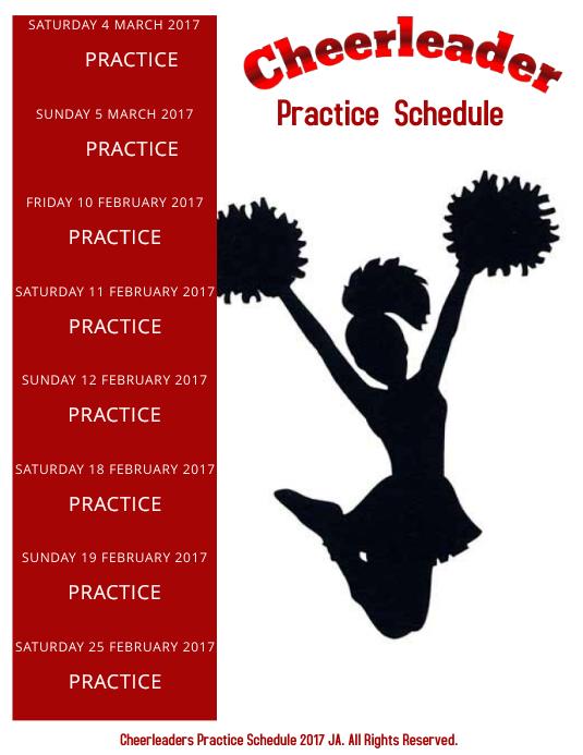 cheerleaders schedule template