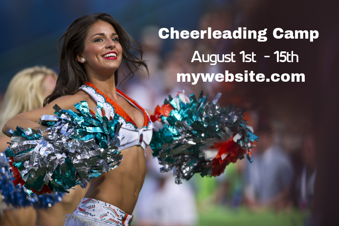 cheerleading camp flyer template postermywall