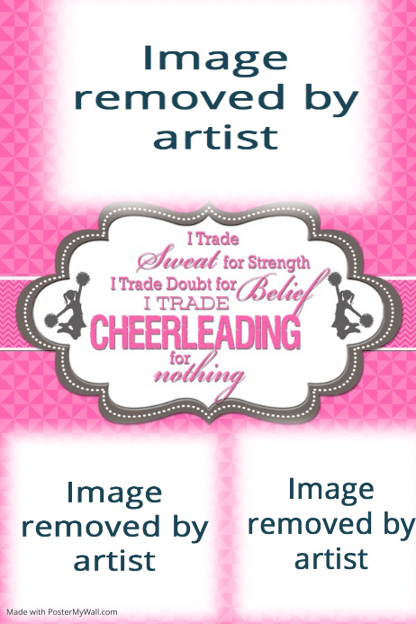 Cheerleading Cheerleader Poster Collage Gift Sports Friends