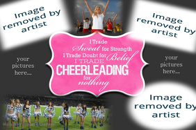 Cheerleading Collage Poster Coach gift photo keepsake