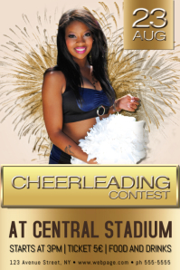 cheerleading contest event poster flyer template