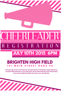 Cheerleading Flyer Poster template