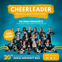 Cheerleading Team Auditions Join Now Instagra Instagram Post template