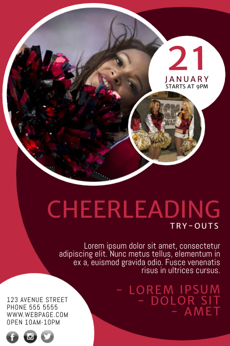 Cheerleading Try-outs Flyer Template