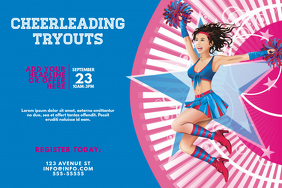 Cheerleading Tryouts Event Flyer Template