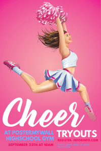 100 customizable design templates for cheerleading poster