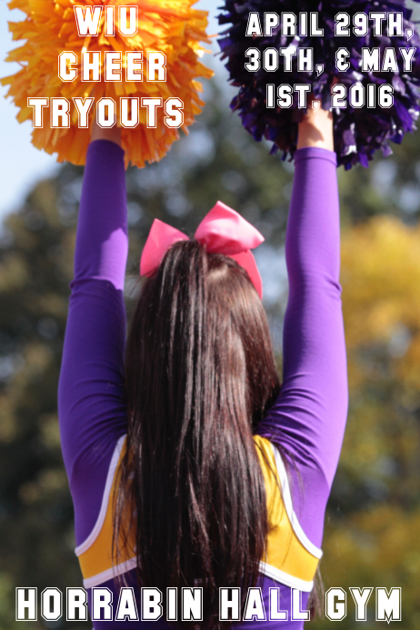 cheerleading tryouts flyer template postermywall