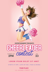 cheerleeading contest flyer template