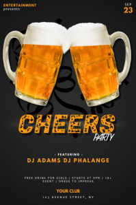 Cheers And Beers Party Flyer Template