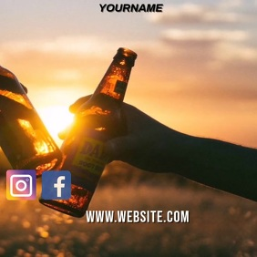 CHEERS TO ALL FATHERS SOCIAL MEDIA TEMPLATE