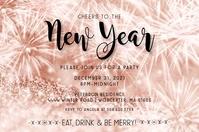 Cheers To The New Year Invitation Tatak template