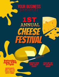 Cheese Festival or Ad flyer template