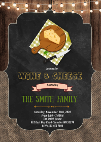 Cheese party invitation