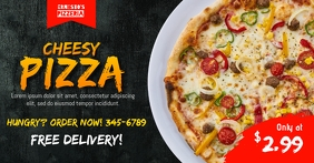 Cheesy Pizza Ad Template Facebook Shared Image