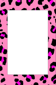 Cheetah Print Party Prop Frame