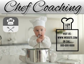 CHEF COACHING AD FLYER TEMPLATE Pamflet (VSA Brief)