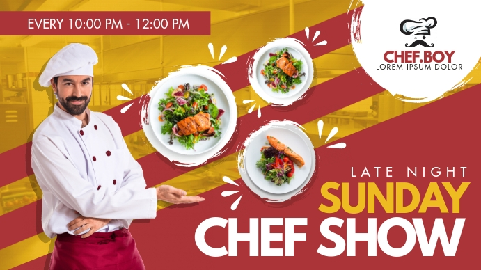 Chef Cooking Channel Youtube Banner Template Postermywall