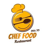 CHEF FOOD restaurant logo editable Logótipo template