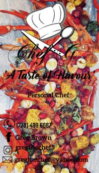 Chef G #3 Besigheidskaart template