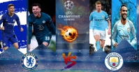 Chelsea vs Manchester city Facebook Shared Image template