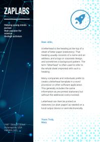 Chemical Company Corporate Letterhead A4 template